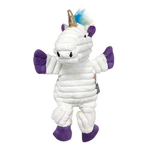 FOUFIT 85662 Rainbow Bright Knotted Toy for Dogs, Unicorn, Small, 10″ For Sale