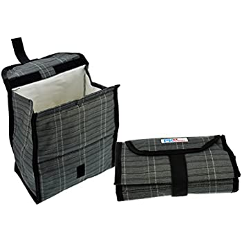 PackIt Freezable & Reusable Lunch Bag with Strap Closure, Urban Plaid