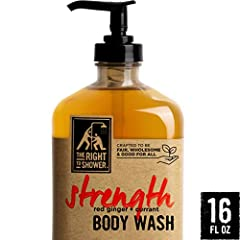 Cleanse and invigorate your body and mind with The Right to Shower Strength Body Wash. Rebuild your inner strength with the rich scent of red ginger and fresh currants, and powerful aromas of saffron, coffee and citrus. Our body soap is craft...