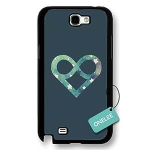 Onelee(TM) - Infinity Infinite love Black Hard Plastic Samsung Galaxy Note 2 Case Cover - Infinity Infinite love Galaxy Note 2 Case - Black 1 WANGJING JINDA
