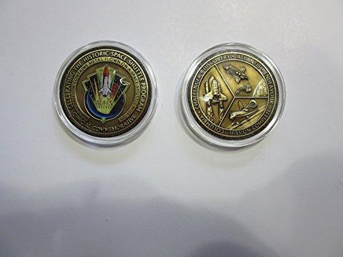 Antique Bronze Space Shuttle Program Kennedy Nasa Mission Complete Commemorative Medallion - Commemorative Memorabilia