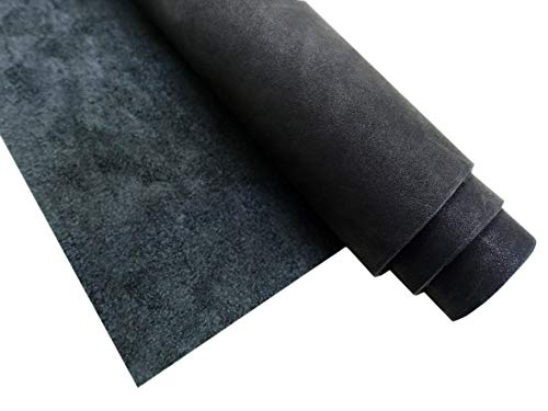 Muse Craft Leather Hides - Full Grain Leather Square - Pre-Cut 1.7-1.9 mm Oil Wax Cowhide Leather Squares(Chrome Tanned) for Crafts/Tooling/Hobby Workshop (Black, 12''x - Black Tanned Leather