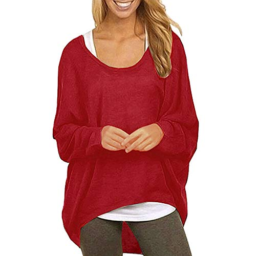 XOWRTE Women's Baggy Batwing Sleeve Fall Winter Pullover