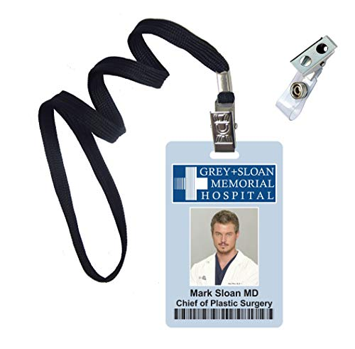 (Mark Sloan, Grey's Anatomy Novelty ID Badge Film Prop for Costume and Cosplay • Halloween and Party)