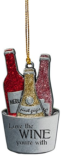 Miles Kimball Pewter Wine Ornament