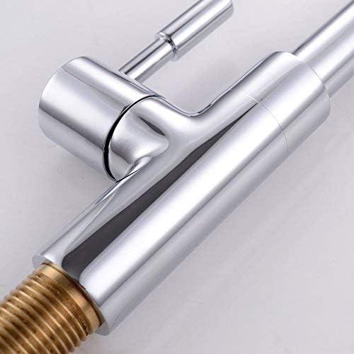SYF-SYF シングルタップ鉛フリー黄銅キッチンの蛇口シングルシンクシンクの水の蛇口、明るいSilvermodernシンプルな高級品質保証ホームデコレーション 蛇口
