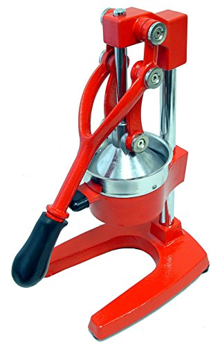Large Commercial Juice Press (Red) (Red Cast Iron Citrus Juicer compare prices)