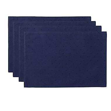 Kate Spade Larabee Dot Placemat (4 Pack), 13 x 19 , Navy