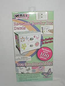 Re-usable jewelry Box Decals