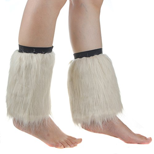 ECOSCO One Pair 8 inches Women Lady WARM SOFT COZY FUZZY Fashion Faux Fur Leg Warmers Boots Cuffs Cover Colorful ()