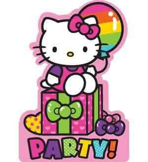 - Hello Kitty Rainbow Invitation [4 Retail Unit(s) Pack] - 491417
