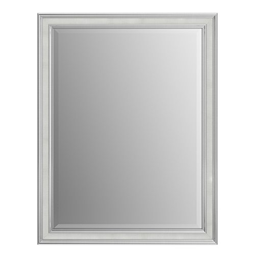 Chrome Classic Wall Mount - Delta Wall Mount 21 in. x 28 in. Small(S1) Rectangular Framed Flush Mounting Bathroom Mirror in Classic Chrome with TRUClarity Deluxe Glass