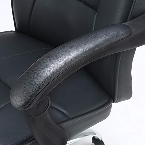 Kontorsstol skrivbord läder spelstolar modern dator svängbar säte tjock kudde stöd ergonomisk vilande design 360 grader rotera