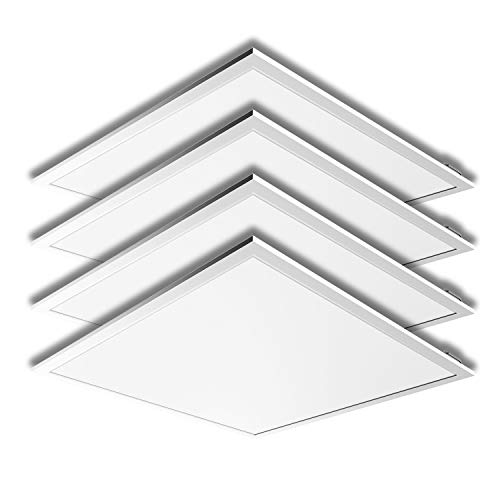 - LED 2 x 2 Ft Recessed LED Panel Light Ceiling White Frame 40W 4000K Dimmable - 4Pack
