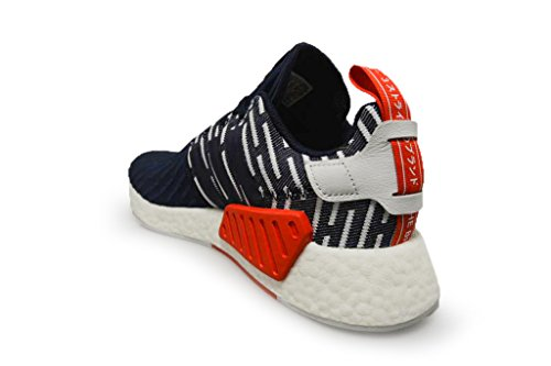 adidas Originals NMD_R2 PK Mens Running Trainers Sneakers (UK 8.5 US 9 EU 42 2/3, Navy White BB2952)