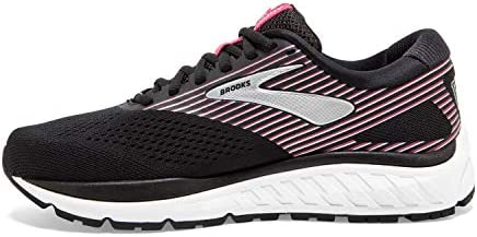 Brooks Women's Addiction 14 Running Shoe, Black/Hot Pink/Silver, 10 UK Wide