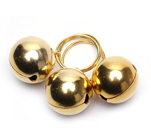 - Ten Tree Gold Pet Bells For Cat And Dog Collar Decoration,3-Pack Li'l Pals Round Dog Bells, 1-Inch