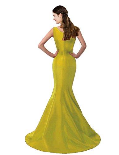 shoulder Yellow Brief Dress Mermaid Design Dress Evening Color COLOREDRESS E Shoulder One Elegant One qOcSZ7Sw