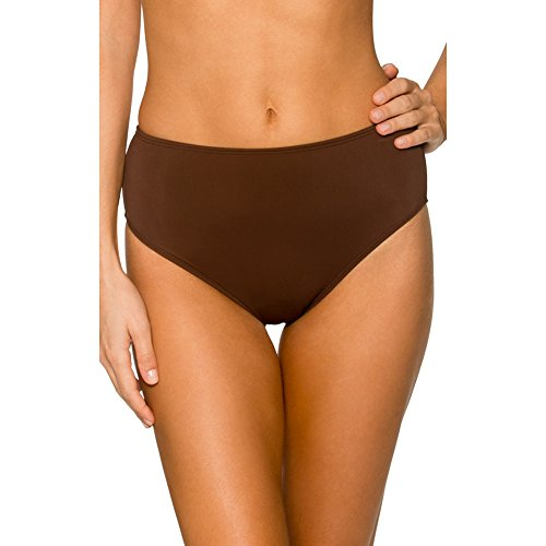 Sunsets Women's High Waist Bikini Bottom, Java, 14