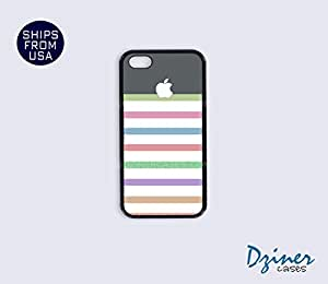 iPhone 5c Case - Colorful Stripes Grey Top iPhone Cover