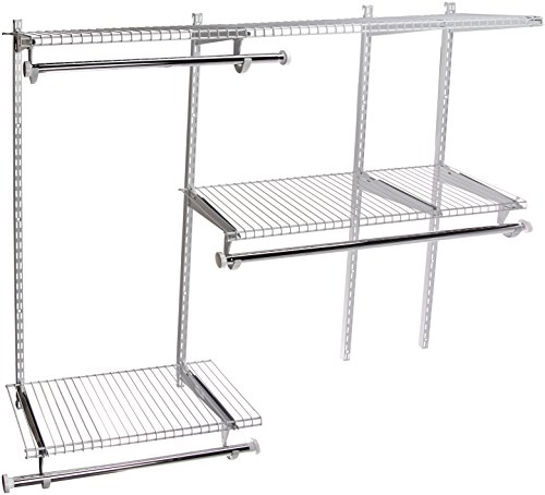Rubbermaid Configurations 4-to-8-Foot Deluxe Custom Closet Organizer System Kit, Titanium (FG3H8900TITNM)
