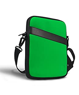 Eastsport Neoprene Crossbody Tablet Bag, Carrying Bag Sleeve with Shoulder Strap for Apple iPad and Tablets, Lime Green