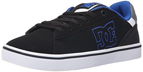 DC Mens Notch Skate Shoe, Negro/Azul, 38.5 EU/5.5 UK