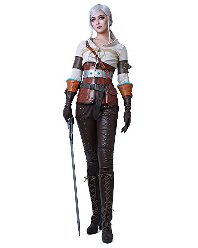 Miccostumes Women's The Witcher 3: Wild Hunt Ciri Cosplay Costume (women (Witcher 3 Ciri Costume)