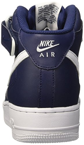Nike Herren Air Force 1 Mid 07 Hohe Sneakers Blau (Midnight Navy/White-White)