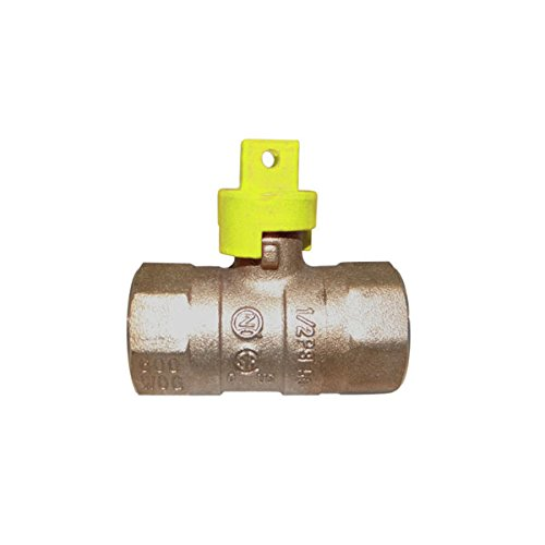 Red-White Valve 12RW5200S Gas Ball Valve Square Handle (2 Piece), 1/2'' by Red-White Valve