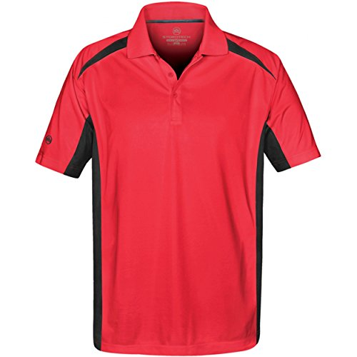 Stormtech Mens Two Tone Short Sleeve Lightweight Polo Shirt (XL) (Red/Black)
