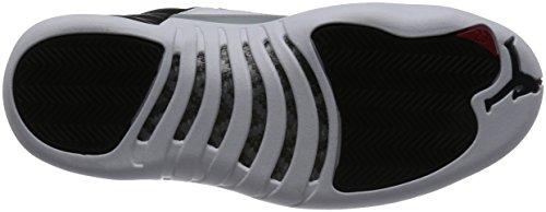 Jordan Nike Herren Air 12 Retro Low Basketball Schuh Schwarz / Varsity Rot-Weiß