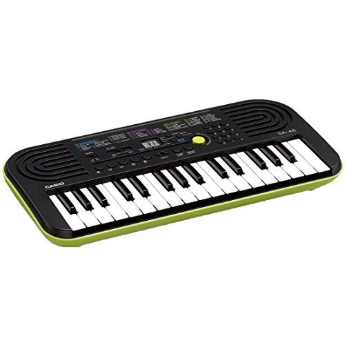 Black Green Casio Sa 46 Keyboard