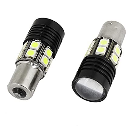 Amazon.com: eDealMax 2 piezas de coches 1156 BA15S Blancas Luces de cola 13 5050 SMD LED de Freno de la lente: Automotive