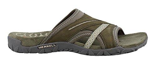 Merrell Women's Terran Slide II Dusty Olive 8 M US - Merrell Womens Casual Sandals