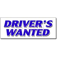 """24"""" DRIVERS WANTED DECAL sticker cdl taxi limousine bus truck delivery"""