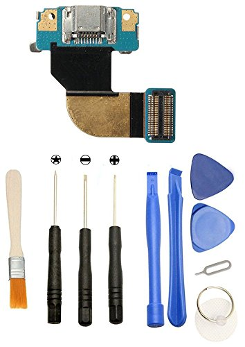 Games&Tech USB Charger Charging Port Dock Flex Cable Replacement Repair Part + Tools for Samsung Galaxy Tab 3 8.0 SM-T310