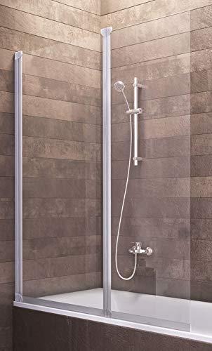 Badewannenaufsatz Duschabtrennung Badewanne Köln 130x103 cm von ...