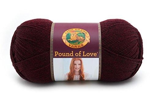 - Lion Brand Yarn 550-143 Pound of Love Yarn, Claret,