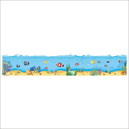 Happy Seaworld Wall Sticker Wall Decal For Nursery Kids Bedroom Gift
