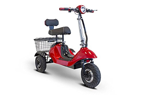 Freedom Scooter - E-Wheels - EW-19 Sporty - 3-Wheel - Red