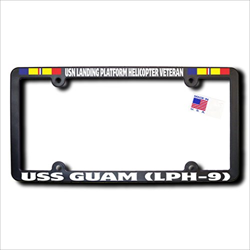 USN Landing Platform Helicopter Veteran USS GUAM (LPH-9) License Frame w/Combat Action - Class Canada Us To From Mail First