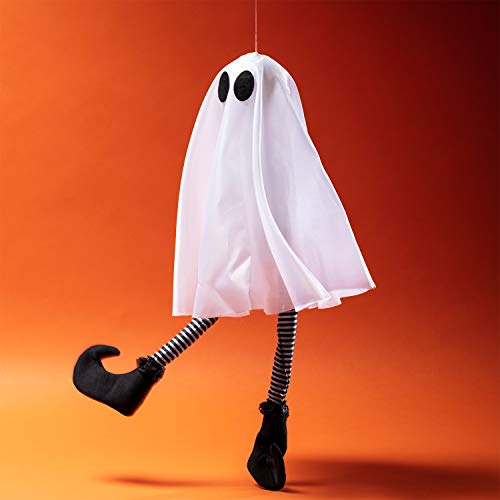 Lights4fun, Inc. Animated Light Up LED Hanging Ghost Halloween Party Decoration ()