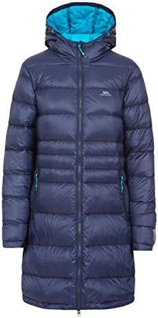 Trespass Marge Hooded Warm Womens Down Jacket Winter Long Ladies Parka Coat