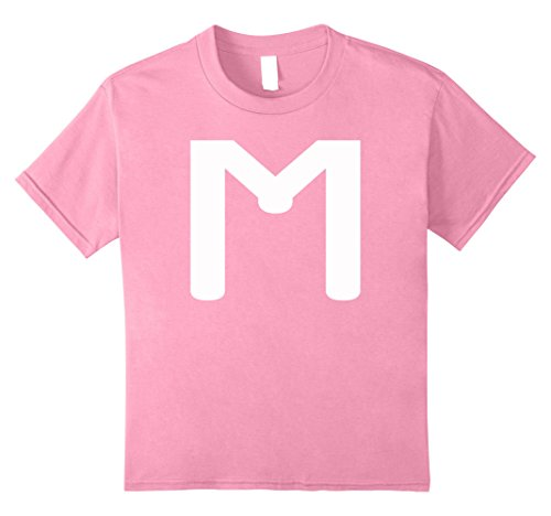 Kids M CANDY LETTER DIY HALLOWEEN COSTUME 2017 T-SHIRT 8 Pink (Funny Diy Halloween Costumes 2017)