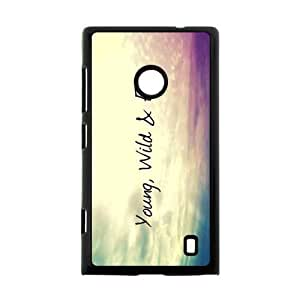Canting_Good Young Wild and Free Custom Case Cover Shell for Nokia Lumia 520