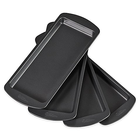 Wilton Easy Layers 4-Piece Nonstick 10-Inch x 4-Inch Loaf Cake Pan Set