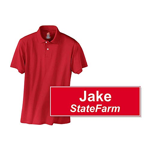 Jake from State Farm Name Tag & Red