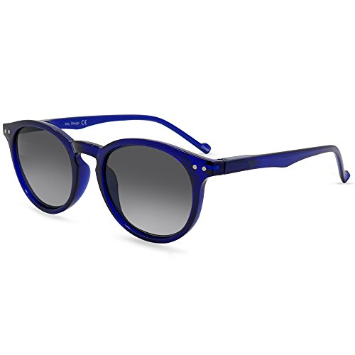 In Style Eyes Flexible Full Reader Sunglasses. Not bifocals Blue +3.50