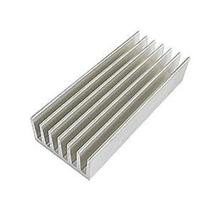 uxcell 98 x 40 x 20mm Aluminium Heat Diffusion Cooling Fin